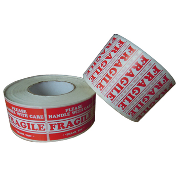 1000 labels 1x3 bright red fragile label handle with care shipping