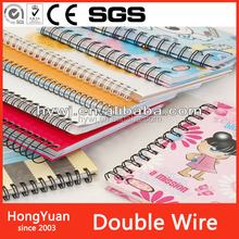 Office Binding Supplies spiral ring wire,binding loop ring wire,double metal ring wire for binding notebook wire o