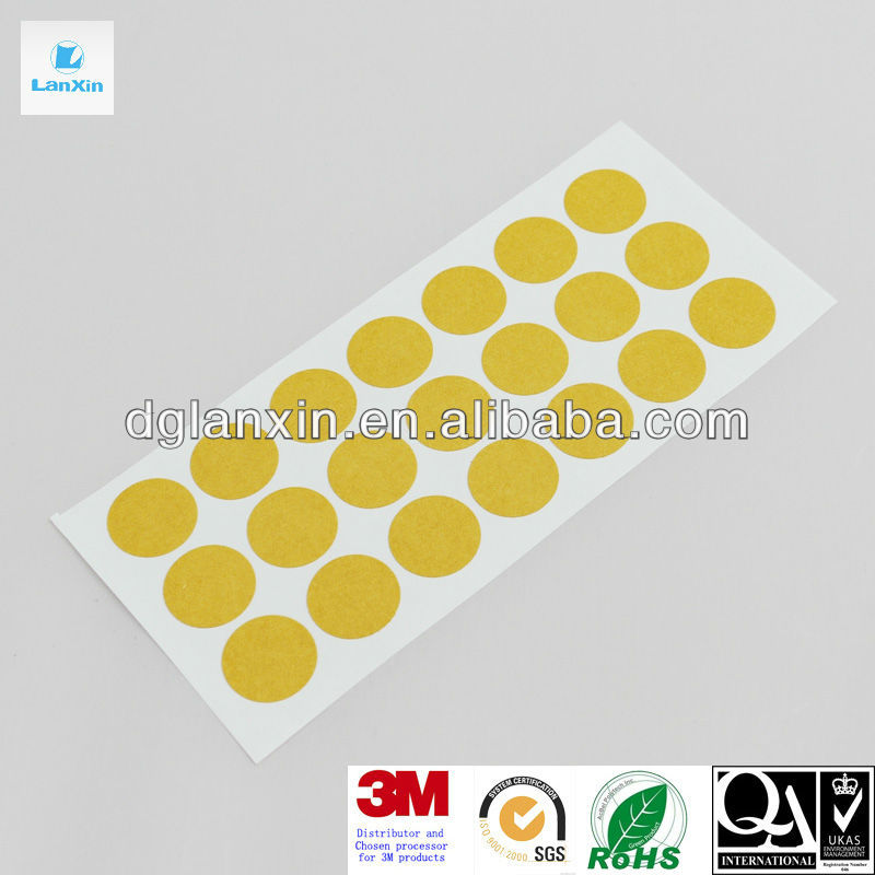 Double sided adhesive round TESA sticker