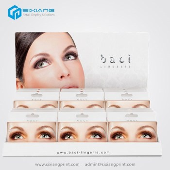 Promotionele Teller Papier Display Lashes Display Stand