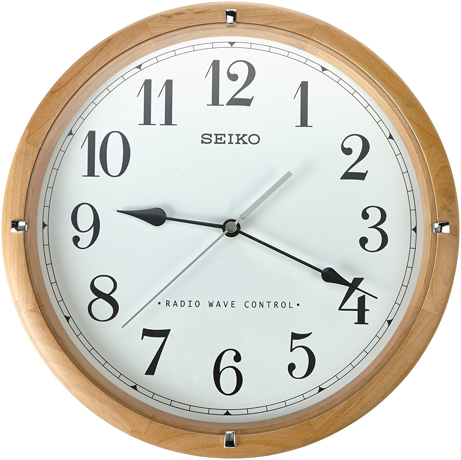 Buy Seiko Qxr303z Radio Controlled Wooden Wall Clock In Cheap Price