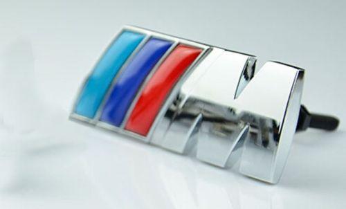 Металл 3D герба знак автомобилей передняя решетка на боку для BMW M серии B модель м мощность