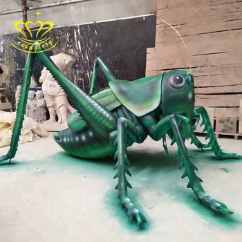 FIbreglass New product insect statue large locust sculpture for outdoor garden decor