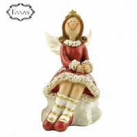 Polyresin angel christmas decorations for home