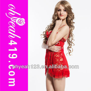 New arrival fashionable wholesale good quality red lingerie babydolls