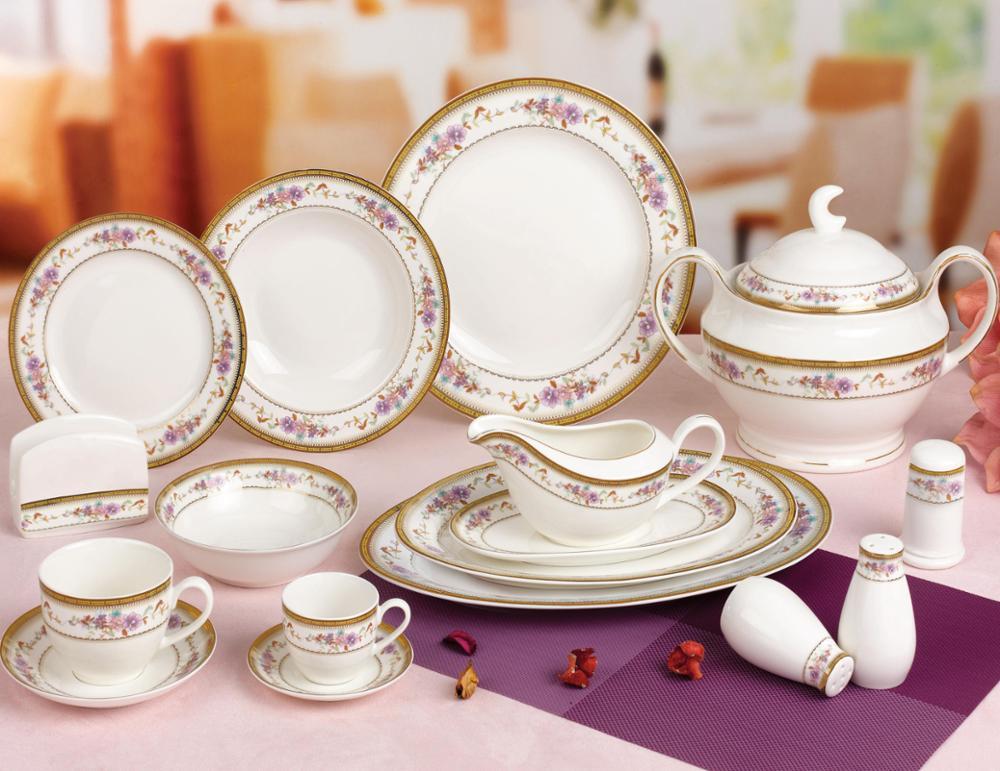 new design bone china dinner set Russia stylish royal fine bone china dinnerware China manufacturer & New Design Bone China Dinner Set Russia Stylish Royal Fine Bone ...