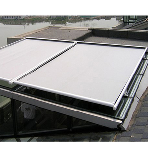 Electric awning motor yard pergola