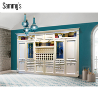 Ready Made Wooden Kitchen Cabinet Wine Cabinet