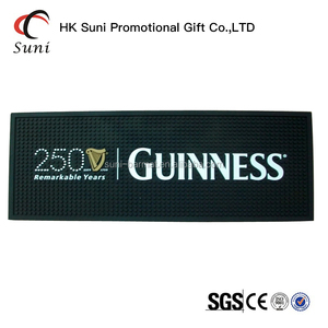 GUINNESS PVC Bar Mat,Bar Beer Runner,Beer Bar Runner for Beer Promotion