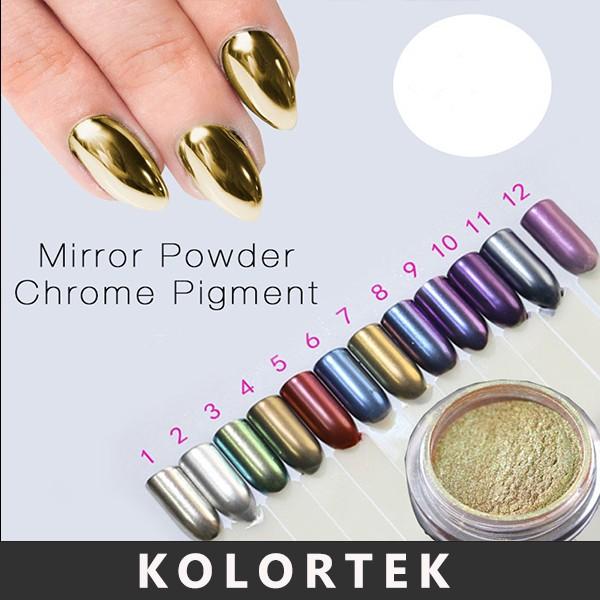 Kolortek Plata Mica En Polvo,Efecto Espejo Cromo Pigmento En Polvo ...