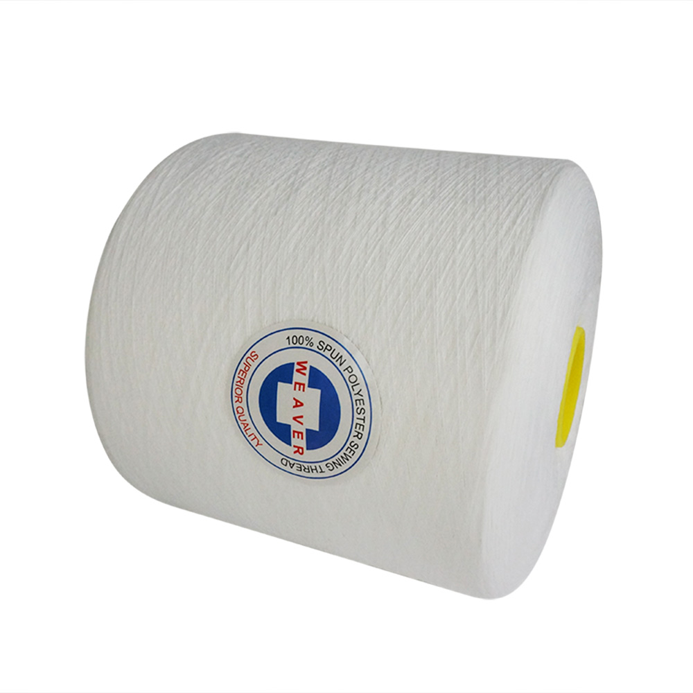 40/1 Optical White spun polyester yarn for sewing thread