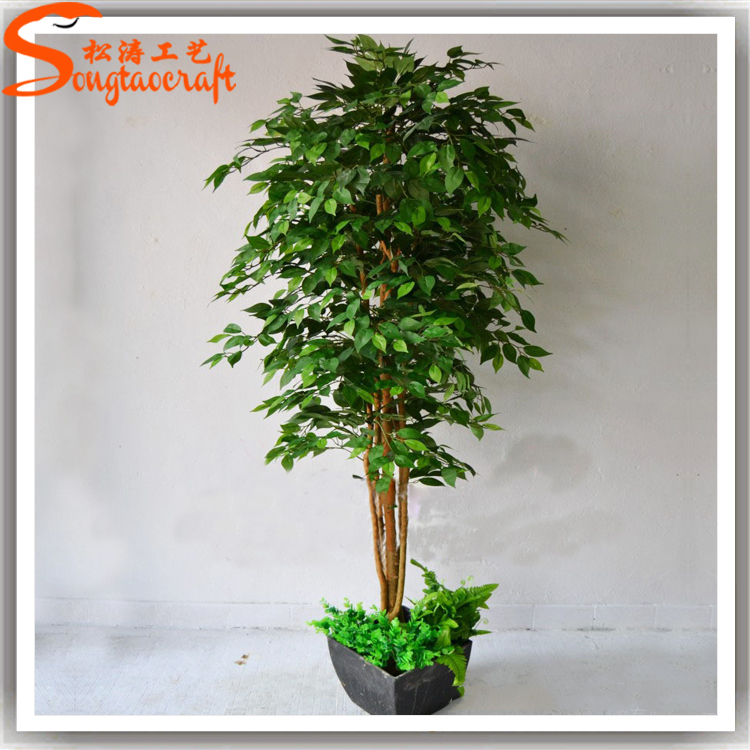 guangdong supplier high simulation cheap prices types of artificial plastic fake banyan tree bonsai mini trees for model indoor