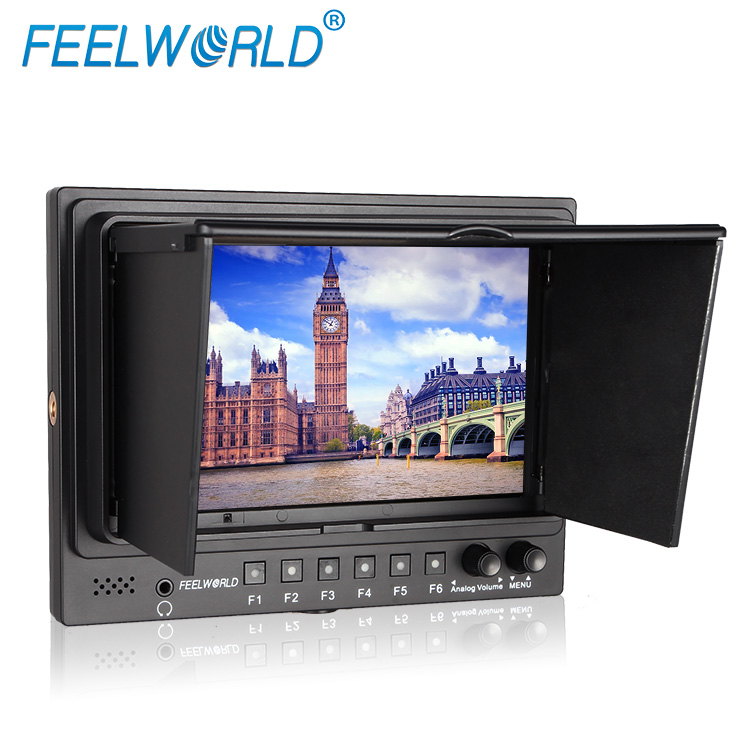 SDI input 7 inch led backlit lcd display 1024x600 false colors peaking assist feature mini hdmi cctv monitor