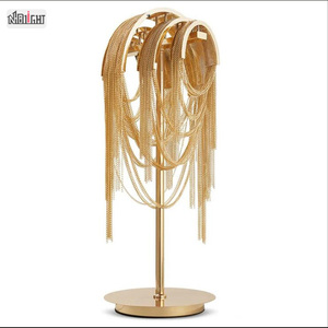 Golden post-modern art exquisite c hanging chain table lamp for Cafe Bar Restaurant