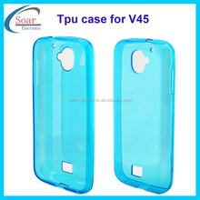 Wholesale ultra thin plain tpu case for Nextel V45