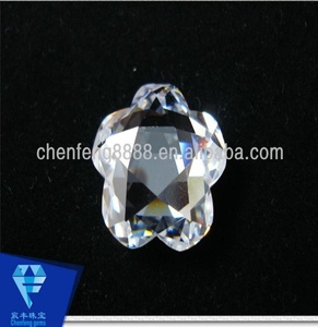 Fashion style white flower shape cz stones for Jewelry making