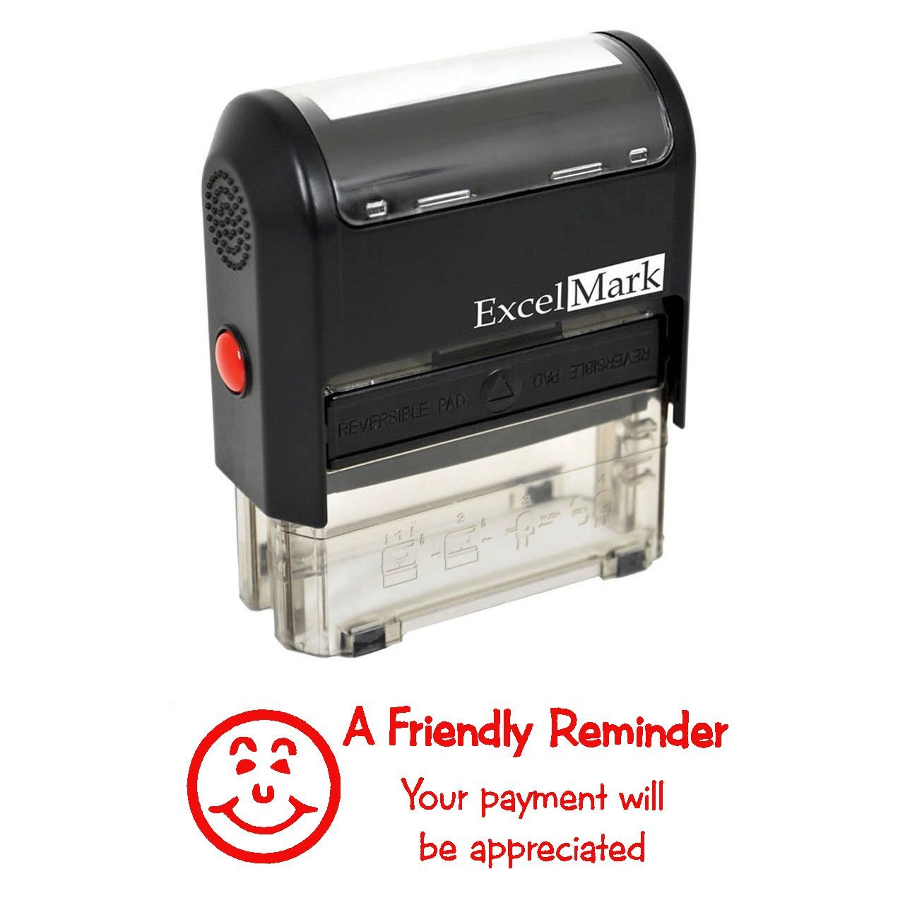 YOUR PAYMENT WILL BE APPRECIATED - Self Inking Bill Collection Stamp in Red Ink