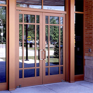 Australian standard double glazed aluminum swing out casement door
