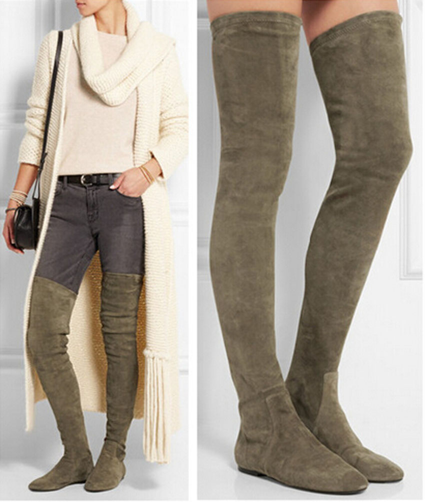Thigh High Boots Flats Cr Boot