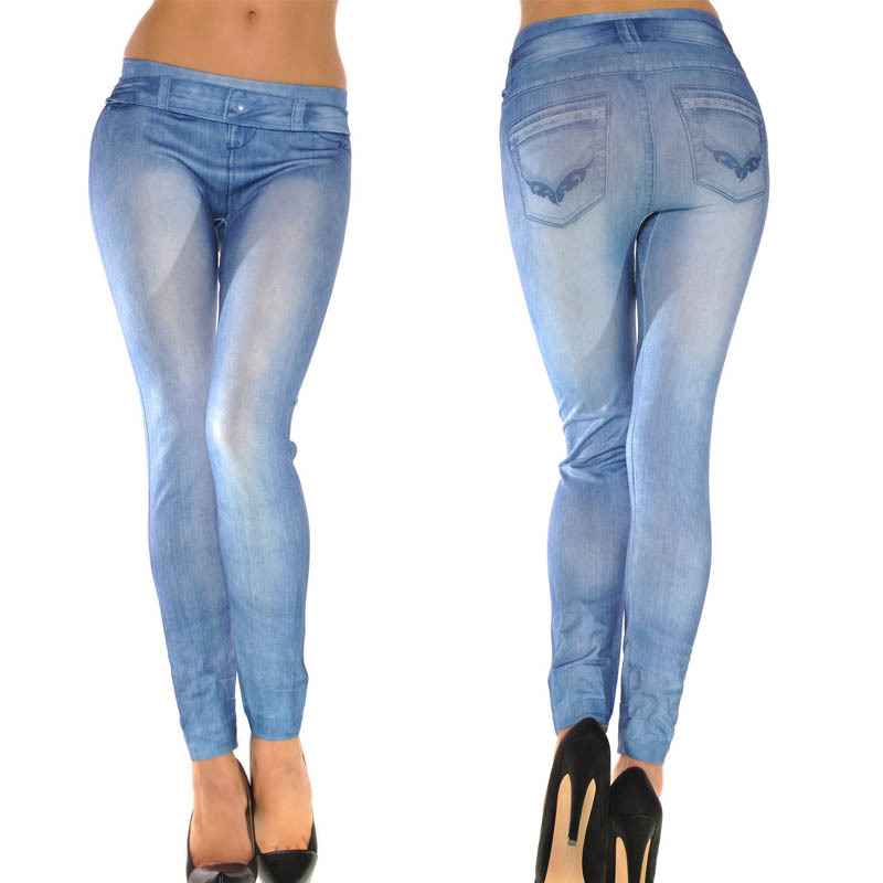 cf090bfa7b721 Get Quotations · Higt Quality 2015 TOP SALE New Fashion Denim Jeans Women  Girl Sexy Leggings Jeggings Skinny Denim