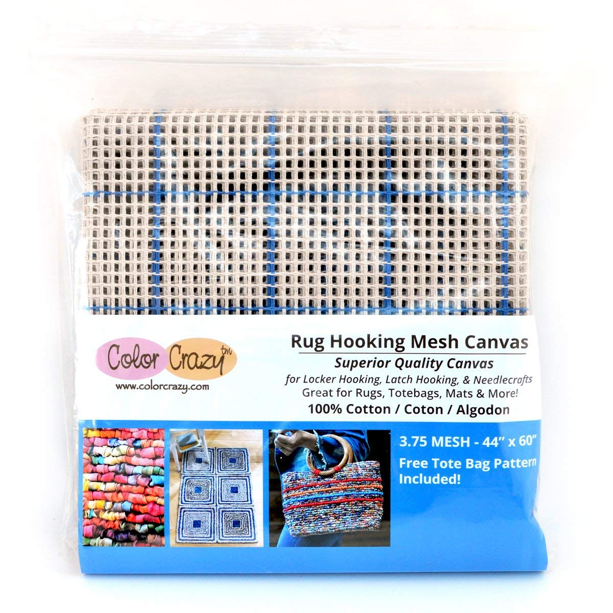 M C G Textiles 36 x 60-inch 5 Mesh Graph-n Latch Rug Canvas
