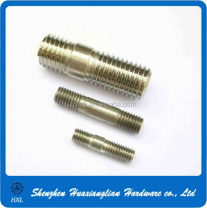Custom made double head threaded screw/two headed screw