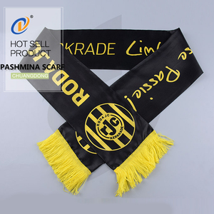 2018 New Design Top quality silk pashmina cheering fan scarf wholesale