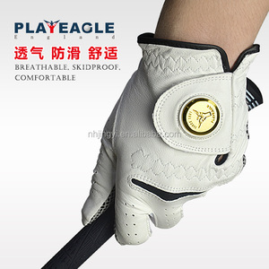 waterproof skidproof sheepskin material winter sport personalized golf gloves