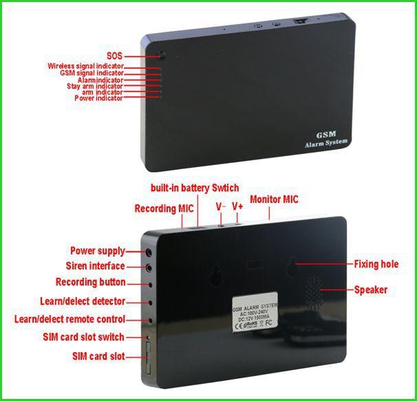Smart phone APP remote control adjustable siren volume motion