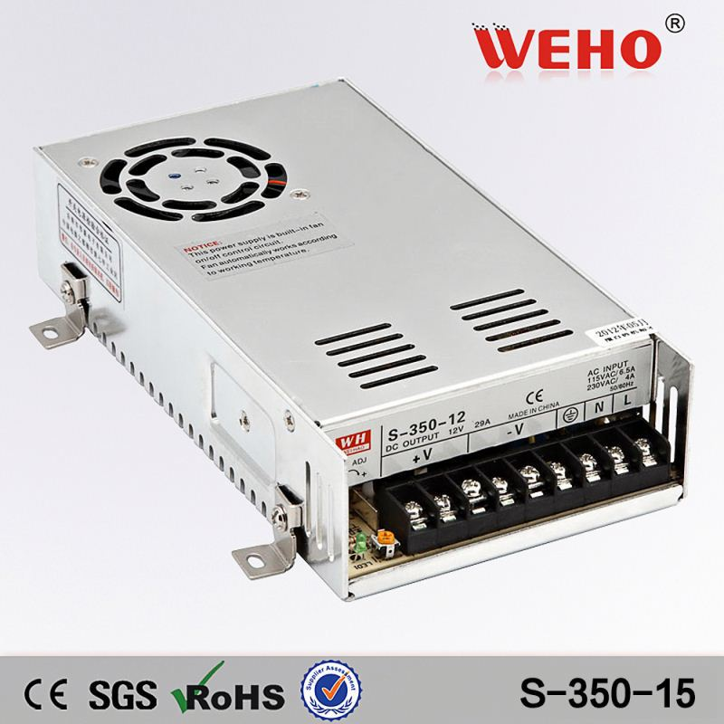 Metal case 12v 350w switching mode power supply