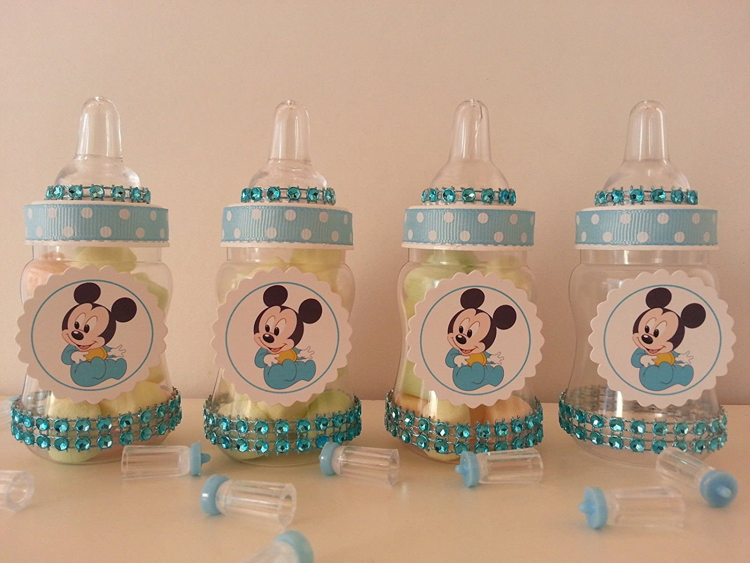 Buy 12 Baby Mickey Mouse Fillable Bottles Baby Shower Favors Prizes