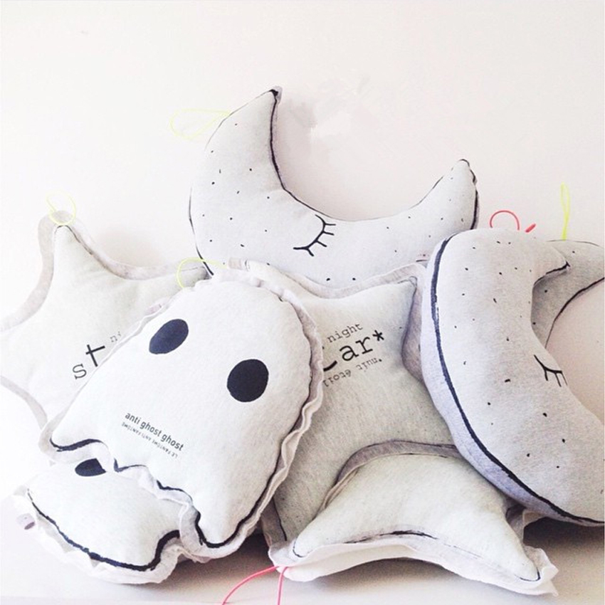 Kids Baby Pillow Room Luminous Pillow Cama Infantil Toddler Lamp Moon Star Owl Pillow Infant Photography