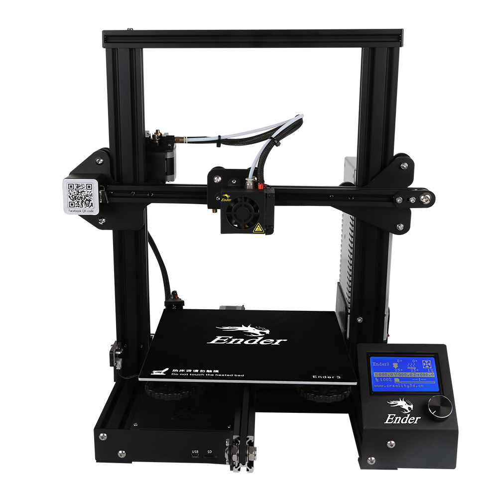 Creality 3d printer Ender-3 220*220*250mm DIY 3D Printer voor I3 V Slot 3d printer voor ABS Afdrukken van originele Creality 3D