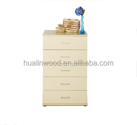 Modern clean wooden chest of drawers design