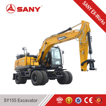 Sany sy155 155 tons small wheel excavator digging equipment buy sany sy155 155 tons small wheel excavator digging equipment sciox Image collections