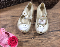 White baby shoes 2017 new arrival hot selling melissa shoes sweet ladies fancy sandal for pretty child