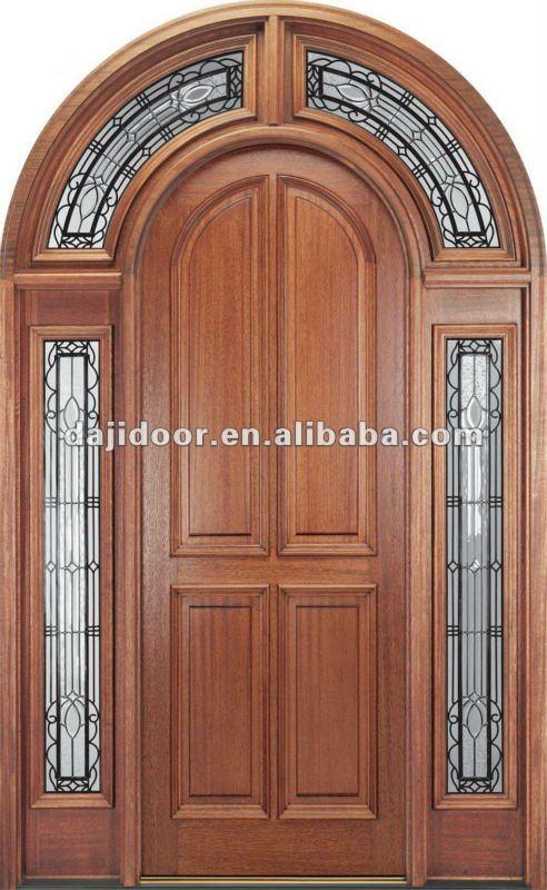 Exterior Último Diseño Puertas De Madera Tapa Redonda Dj-s6002m-6 ...