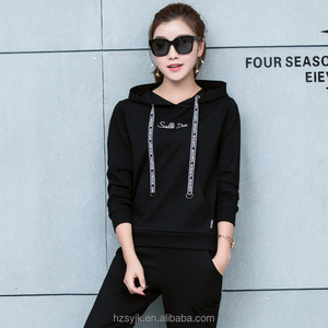 d7aa1bdee54702 OEM Preppy Pullover Tracksuit Kids Hoodies Long Sleeve Letter embroidered  tracksuits