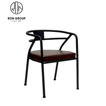 Wholesale Restaurant Modern Leather Seat Metal Dining Chair Buy