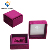 Custom Purple Velvet Earring Box