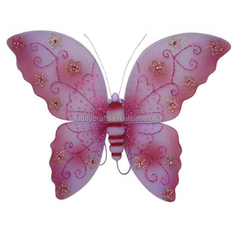 Large adult pink fairy wings for cosplay women