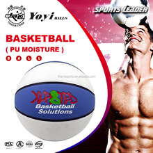 the best grip touch PU moisture ( absorbwent sweat ) leather 2 colors ( blue and white ) basketball for AUSTRALIAN market
