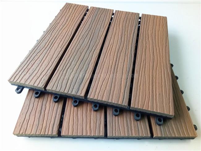 Terrace Mix Color Capped Wood Plastic Composite Decking Tile