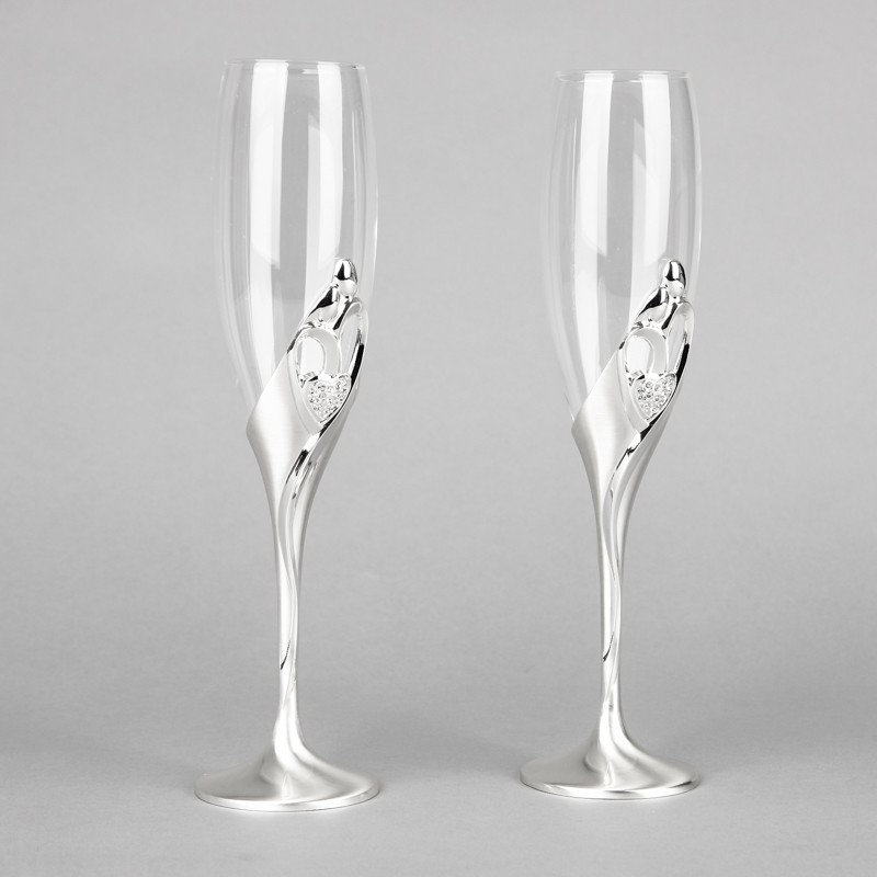 New arrival fashion 26cm height wedding champagne <strong>glasses</strong> goblet toast flute silver martini <strong>glass</strong> party wine <strong>glass</strong>