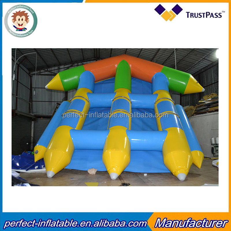 Inflatable Flying Fish Amusemest Water Park Inflatable Flying Fish Floating boat for Sale