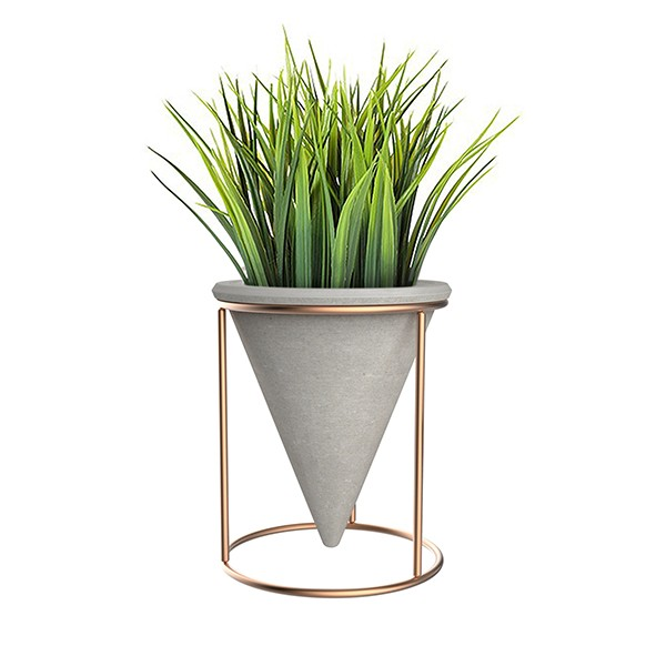 Unique Type Marble Effect Iron Hanging Flower Pots Wall