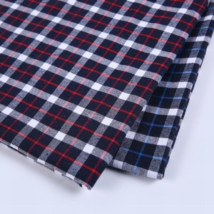 Tartan plaid gingham cotton poly polo shirt fabric