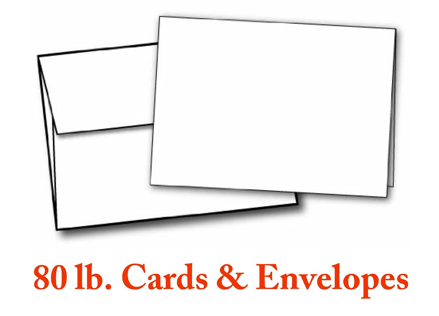 Buy 5 X 7 Heavyweight Blank White Greeting Card Sets 30 Cards