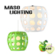 Maodern Indoor Green Apple Resin Shade Pendant Lamp For Bar Dining Room Decoration LED Light MS-P1034L