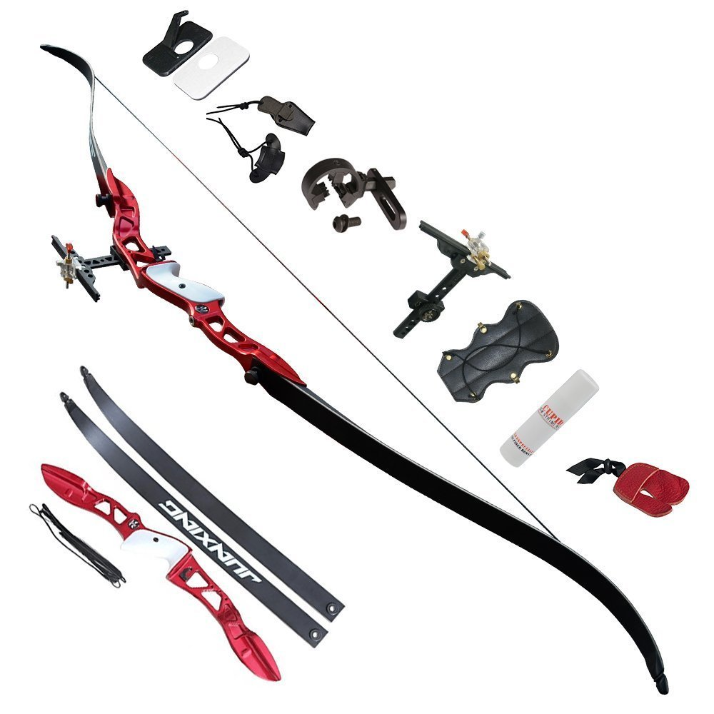 Archery Takedown Recurve Bow and Arrow Set Hunting Long Bow Kit for Outdoor